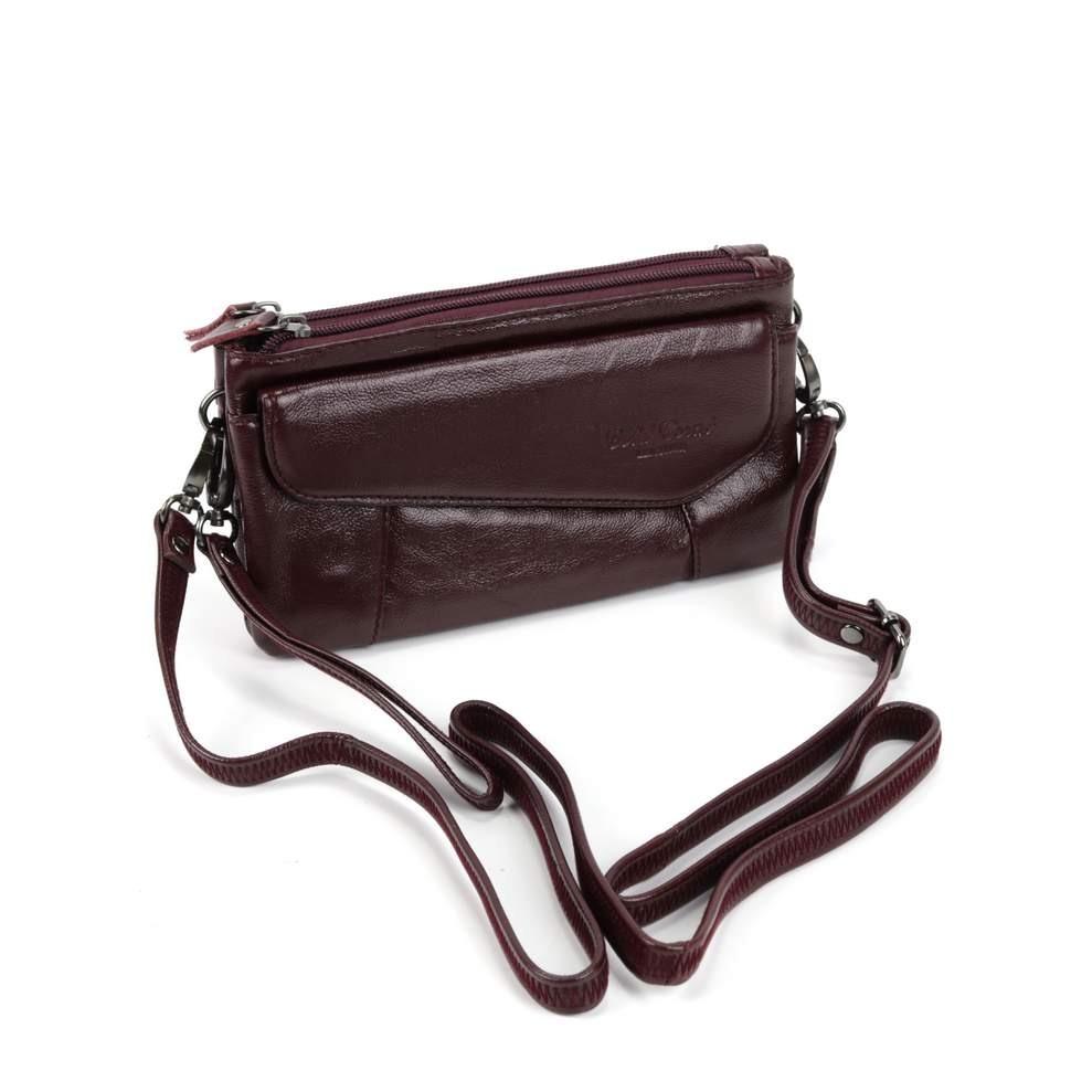 Женская кожаная сумка 3855 Бордо