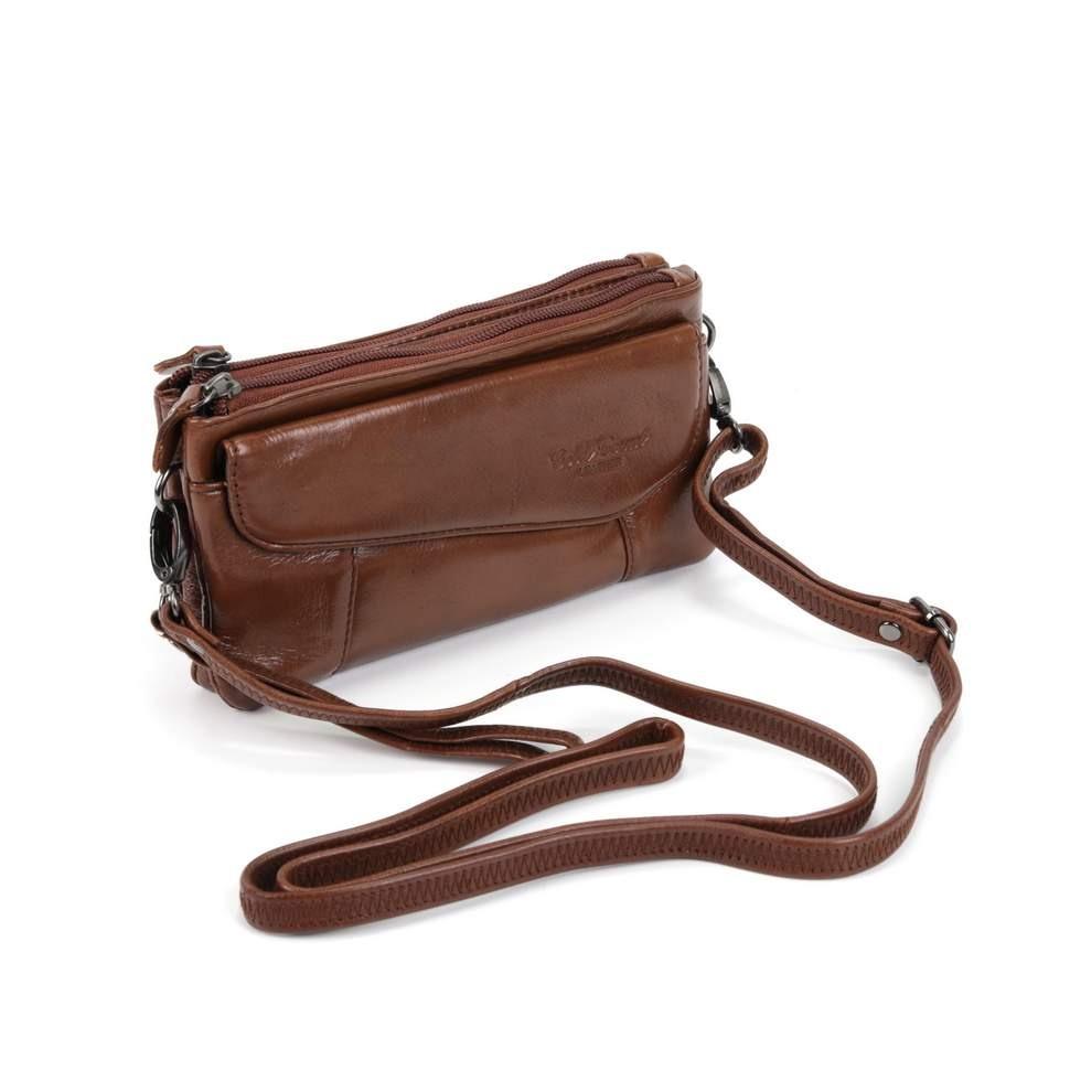 Женская кожаная сумка 3855 Рыжий
