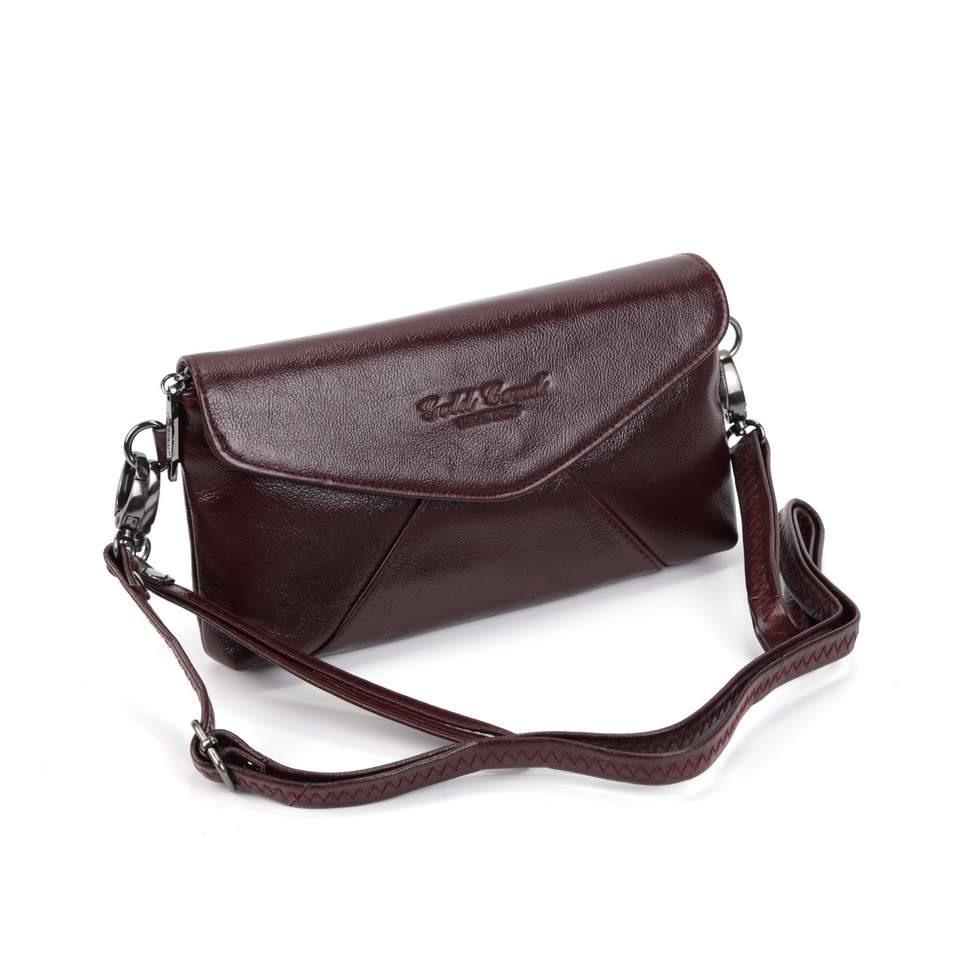 Женская кожаная сумка А5732 Бордо